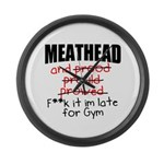 Meathead and prood Large Wall Clock