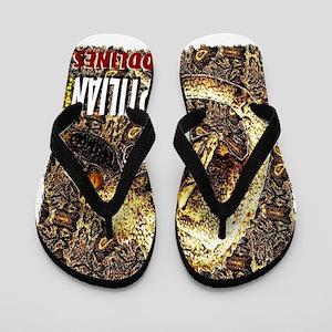 reptilian bloodlines Flip Flops