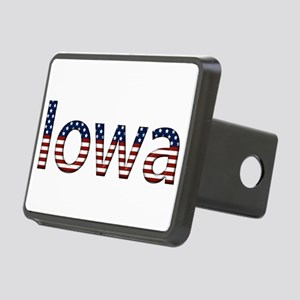 Iowa Stars and Stripes Rectangular Hitch Cover