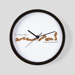 Dachshund - How do I love Thee Wall Clock