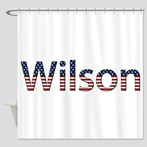 Wilson Stars and Stripes Shower Curtain