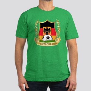 Germany World Cup Soccer Men's Fitted T-Shirt (dar