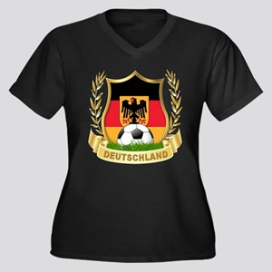 Germany World Cup Soccer Women's Plus Size V-Neck