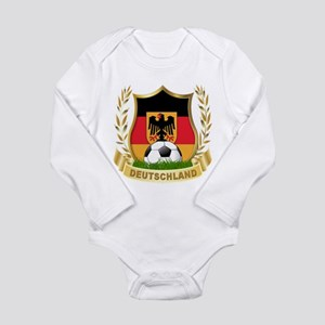 Germany World Cup Soccer Long Sleeve Infant Bodysu