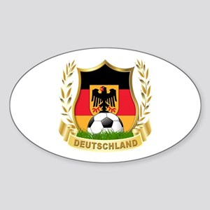 Germany World Cup Soccer Sticker (Oval)