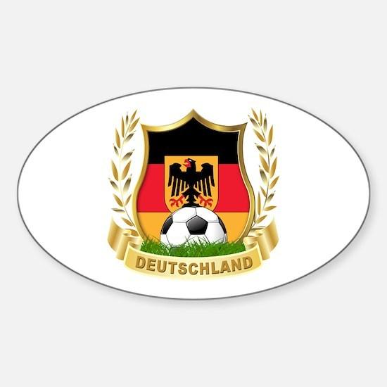 Germany World Cup Soccer Sticker (Oval)