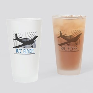 RC Flyer Low Wing Airplane Drinking Glass