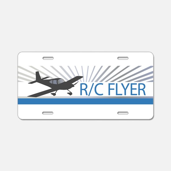RC Flyer Low Wing Airplane Aluminum License Plate