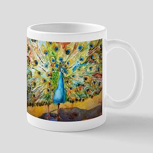Preening Peacock Mug