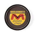 Middleswarth potato chip logo Wall Clock