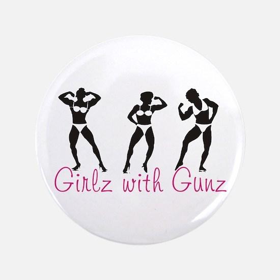 "Girlz with Gunz 3.5"" Button"
