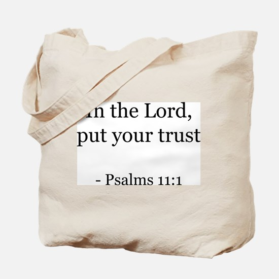 Psalms 11:1 Tote Bag