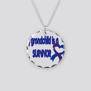 grandchild pediatric stroke Necklace Circle Charm