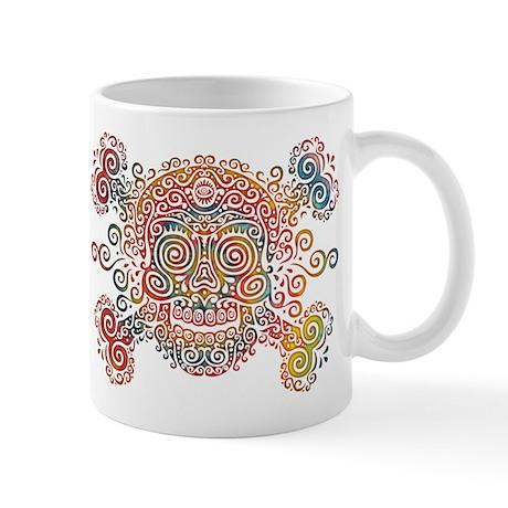 Tie-Dyed Antique Skull Mug