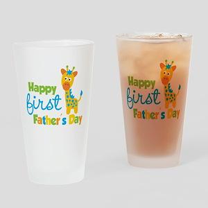 Giraffe 1st Fathers Day Drinking Glass