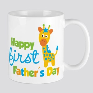 Giraffe 1st Fathers Day Mug
