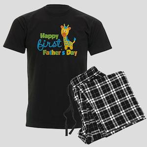 Giraffe 1st Fathers Day Men's Dark Pajamas