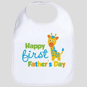 Giraffe 1st Fathers Day Bib