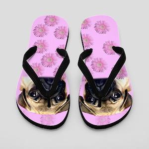 Pug Dog Flip Flops