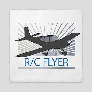 RC Flyer Low Wing Airplane Queen Duvet