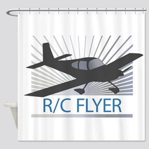 RC Flyer Low Wing Airplane Shower Curtain