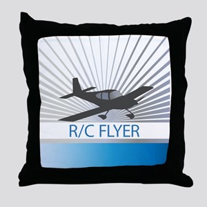 RC Flyer Low Wing Airplane Throw Pillow