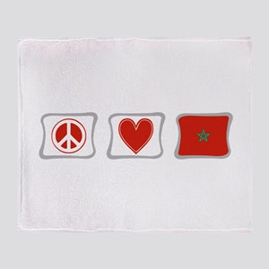 Peace, Love and Morocco Throw Blanket