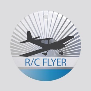 RC Flyer Low Wing Airplane Ornament (Round)