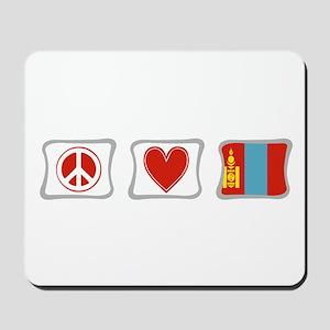 Peace, Love and Mongolia Mousepad