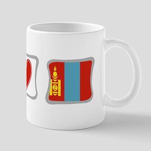 Peace, Love and Mongolia Mug