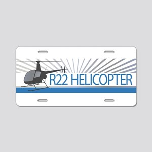 Aircraft R22 Helicopter Aluminum License Plate