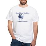 Smiling Pitbull White T-Shirt