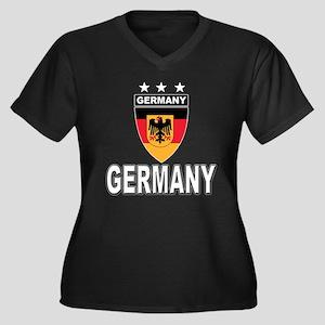 Germany World Cup Soccer Women's Plus Size V-Neck