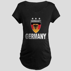 Germany World Cup Soccer Maternity Dark T-Shirt