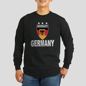Germany World Cup Soccer Long Sleeve Dark T-Shirt