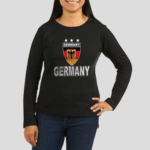 Germany World Cup Soccer Women's Long Sleeve Dark