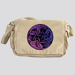 Celtic Chasing Hounds 1d Messenger Bag