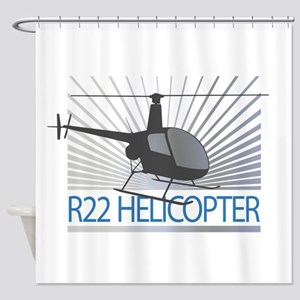 Aircraft R22 Helicopter Shower Curtain