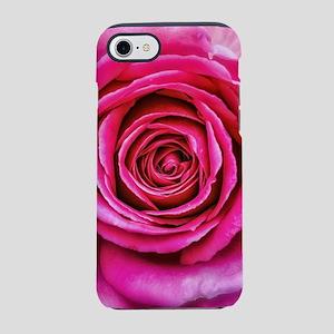 Hot Pink Rose Closeup iPhone 7 Tough Case