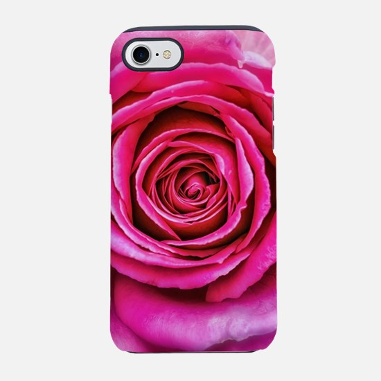 Hot Pink Rose Closeup iPhone 7 Tough Case