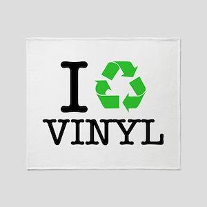 I Recycle Vinyl Throw Blanket