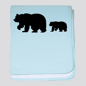 Bear Migration Icon baby blanket