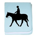 Horse with Rider baby blanket