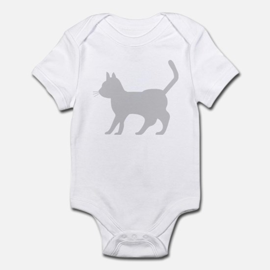 Gray Cat Icon Infant Bodysuit