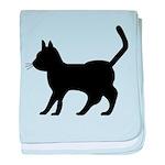 Black Cat Icon baby blanket