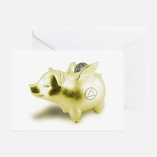 AA Pigs Fly - Greeting Card