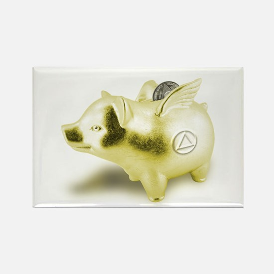 AA Pigs Fly - Rectangle Magnet