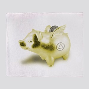 AA Pigs Fly - Throw Blanket