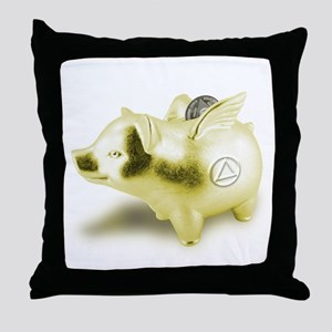 AA Pigs Fly - Throw Pillow