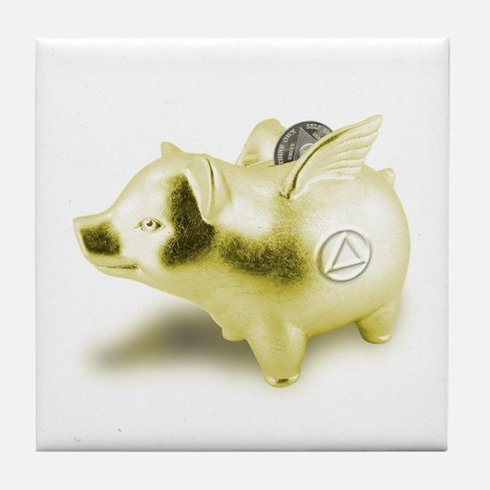 AA Pigs Fly - Tile Coaster